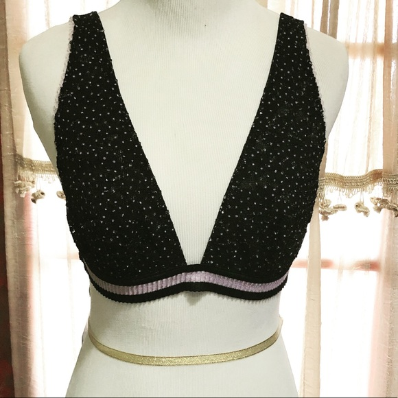 Free People Dotted Lace Bralette